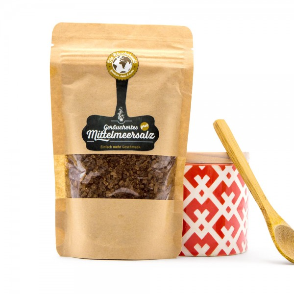 Rauchsalz, geräuchertes Meersalz grob - Tüte 250 g